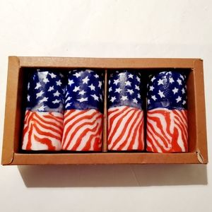 NEW American Flag Candle Set